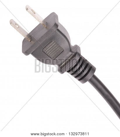 image of one American Outlet Plug with Cord Isolated