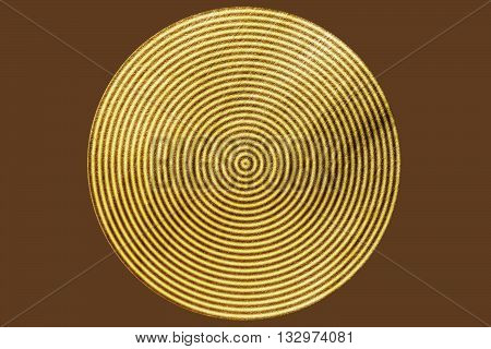 Golden Circle with brown rings. element for different design