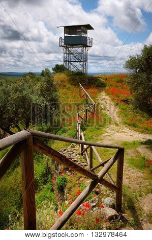 Observation tower to prevent fire in the hills