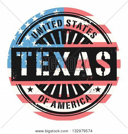 Grunge rubber stamp with the text United States of America, Texas, vector illustration