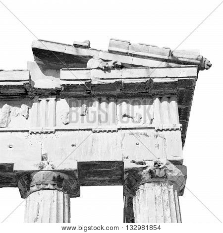 In Greece The Old Architecture And Historical Place Parthenon Athens