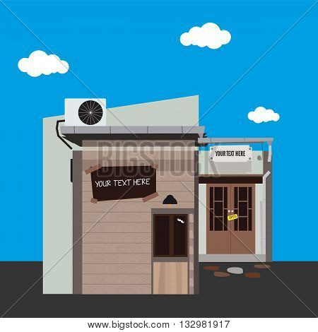 Vector illustration of store icon,Store icon. Detailed vector illustration of a store front. Eps 10.