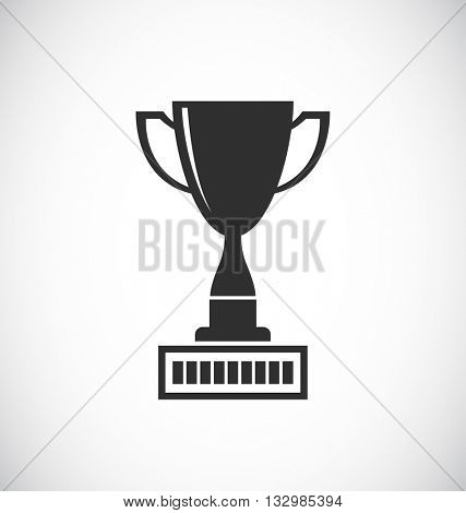 trophy cup black icon