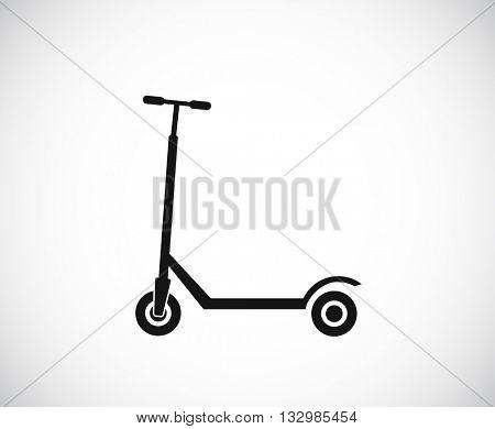 kick scooter black icon