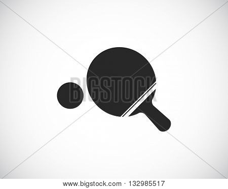 ping-pong sport black icon