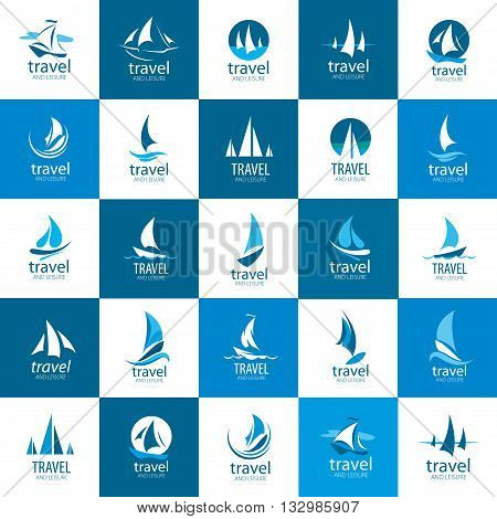 Template Vector Yacht logo. Illustration for travel and leisure