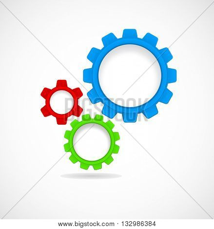 gears and cogs teamwork - abstract template