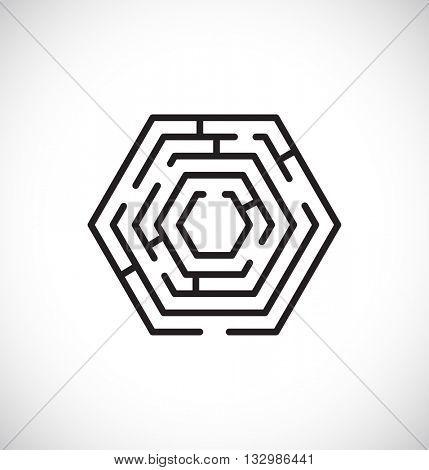 maze labyrinth web icon