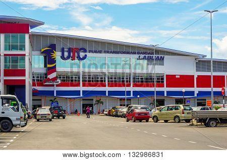 Labuan,Malaysia-Jun 6,2016:Labuan UTC at Labuan Market Sentral,Labuan island.Urban Transformation Centre (UTC) launched by Prime Minister of Malaysia Datuk Seri Najib Tun Razak on 6th Febuary 2016.