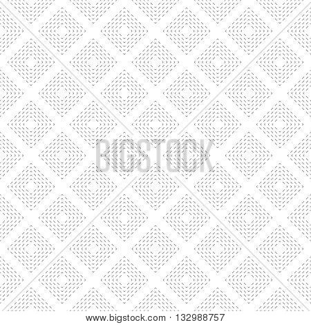 Seamless pattern. Modern stylish texture with thin dash lines. Regularly repeating geometric dashed tiles with rhombuses . Vector element of graphical design