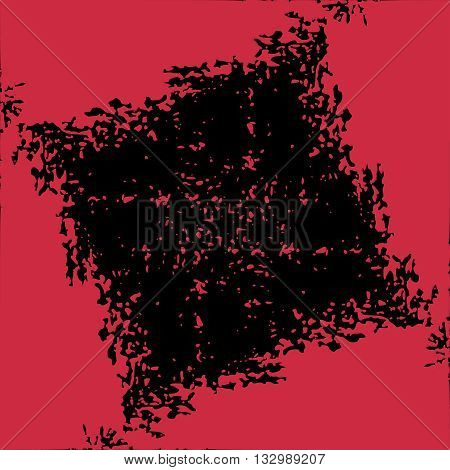 Abstract background with torn edges. Uneven strokes with small particles at edges. Vector element of graphical design
