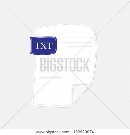 Vector illustration txt icon. Txt file format symbol flat design