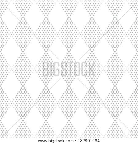 Seamless pattern. Modern stylish texture. Infinitely repeating small textured geometrical tiles consisting of dotted rhombuses diamonds. Vector abstract halftone background