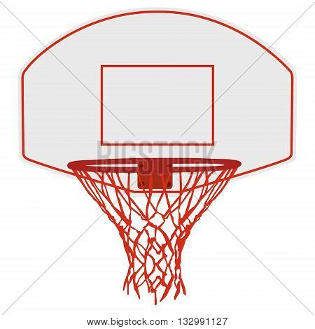 Vector illustration basketball basket basketball hoop basketball net. Basketball icon
