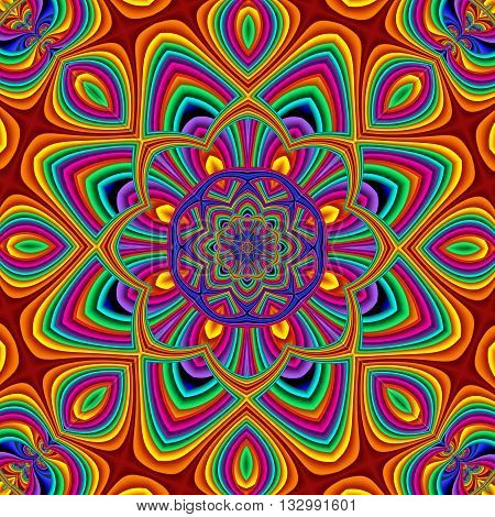 Colorful abstract mandala background. You can use it for invitations notebook covers phone case postcards cards ceramics carpets and so on. Artwork for creative design art and entertainment.