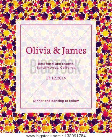 vector template of a wedding invitation bright and vivid wedding invitation