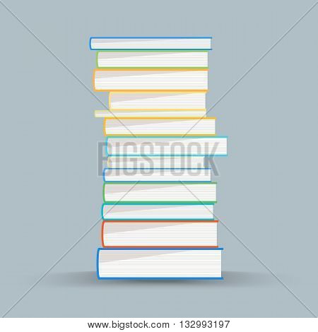 Stack of academic books. Academic books vector illustration