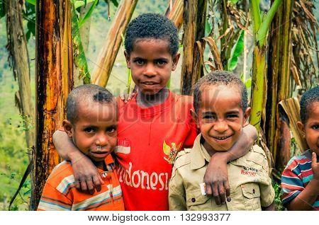 Three Friends In Indonesia