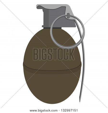 Vector illustration grenade explosive bomb military army weapon. Granade icon. Armed attack explode