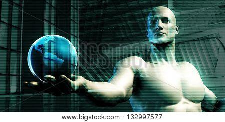 Global Business Platform Network as a Concept 3D Illustration Render