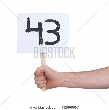 Sign With A Number, 43