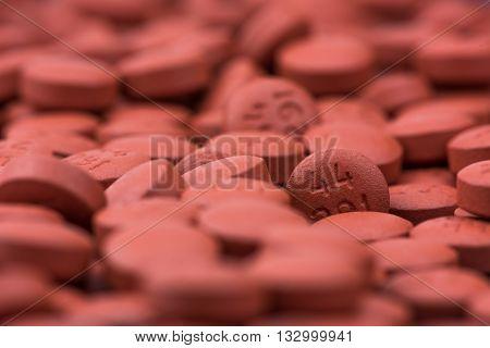 Medical pills background - macro photography - close-up photography