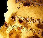 Постер, плакат: Шероховатый музыкальный фон