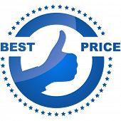 Постер, плакат: Лучшая цена дизайн элемент Продажа дизайн элемент