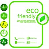 stock photo of environmentally friendly  - Set of eco friendly - JPG