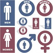 picture of body shape  - Men and women icons - JPG