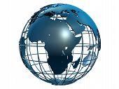 pic of world-globe  - 3d rendered illustration of a metal globe - JPG