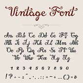 Elegant Calligraphic Script Font vector typeface letters numbers poster