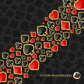 image of playing card  - Abstract background with card suits - JPG