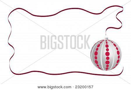 Christmas ball card white