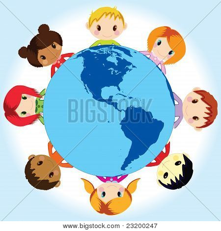 World kids vector