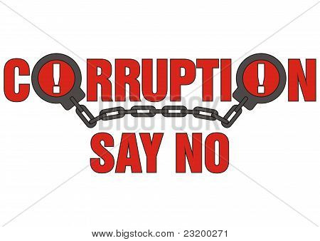 sign corruption say no
