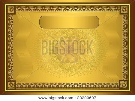 raster Certificate Diploma Gold Frame