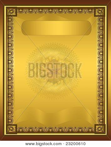 raster Certificate Diploma Gold Frame Vertical