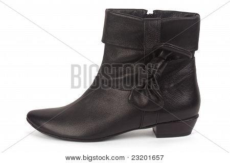 One Female Short Black Boot