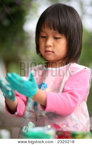 Child  & Painting Job