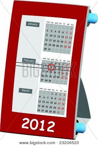 2012 year calendar