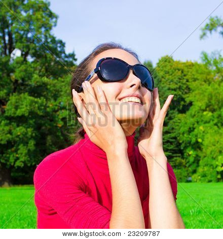 Female Sunglasses Portrait
