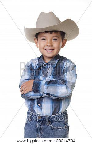 Big cowboy smile.