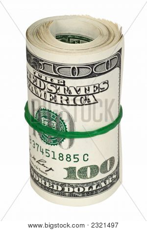 Rolled Money Isolated On White