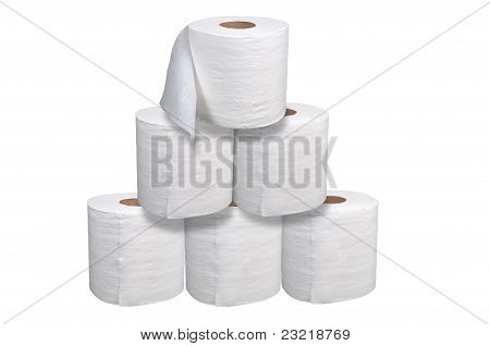 Toilet Paper Stacked