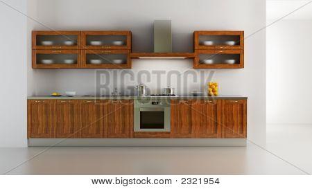 Interior de cocina de estilo clásico