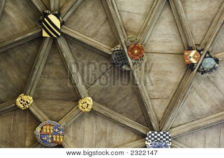 Universität Cambridge, Decke der Eingangshalle des Trinity College