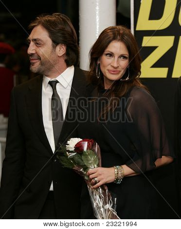 SAN SEBASTIAN, SPAIN - SEP 20: Julia Roberts; Javier Bardem at the 58th International Film Festival San Sebastian on September 20, 2010 in San Sebastian, Spain