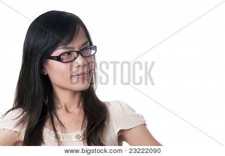 Female Confused Smile