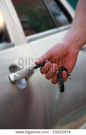 Car Keys In A Man's Hand